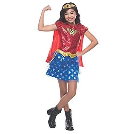 Rubie's Costume DC Superheroes Wonder Woman Sequin Child Costume, Medium