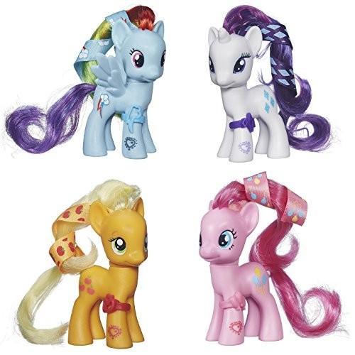 My Little Pony Cutie Mark Magic Figure Set of 4 - Applejack, Rarity, Rainbow Dash & ピンクie Pie