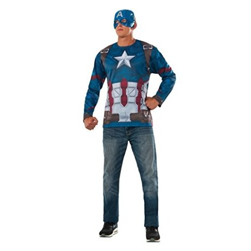 Rubies Captain America Civil War Captain America Costume Top and Mask Multi, Extra Large
