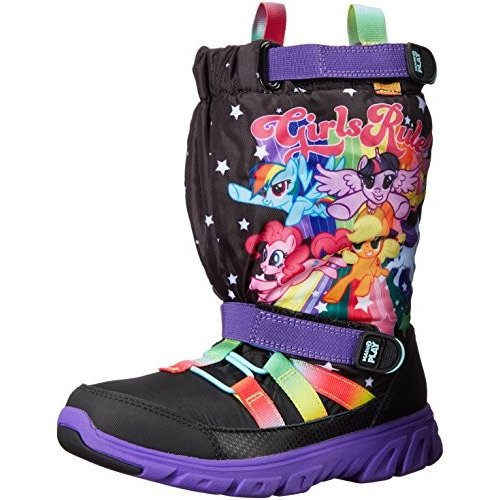 Stride Rite Made 2 Play Sneaker Winter Boot (Toddler/Little Kid), 黒/Rainbow, 4 M US Toddler