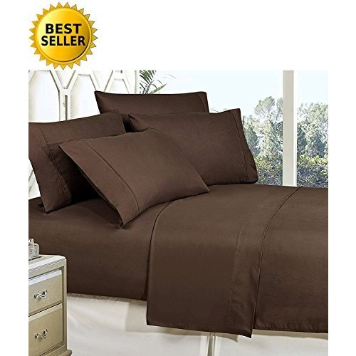 Celine Linen Best, Softest, Coziest Bed Sheets Ever! 1800 Thread Count Egyptian Quality Wrinkle-Resistant 4-Piece Sheet Set with Deep Pockets 100% Hyp