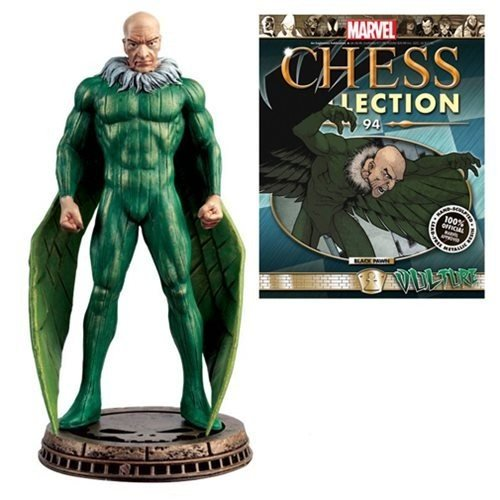 Spider-Man Marvel Amazing Vulture 黒 Pawn Chess Piece with Magazine #94