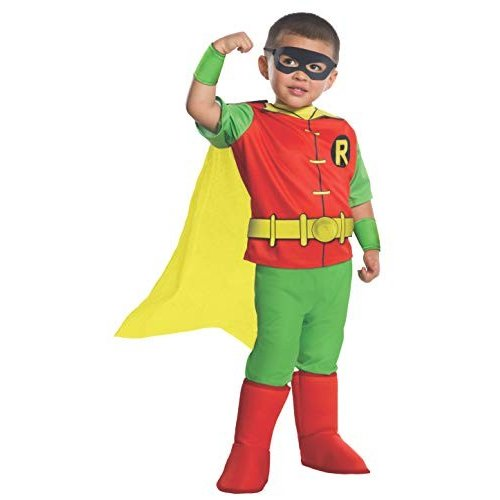 Rubie's Costume DC Comics Toddler Deluxe Robin Costume, X-Small,