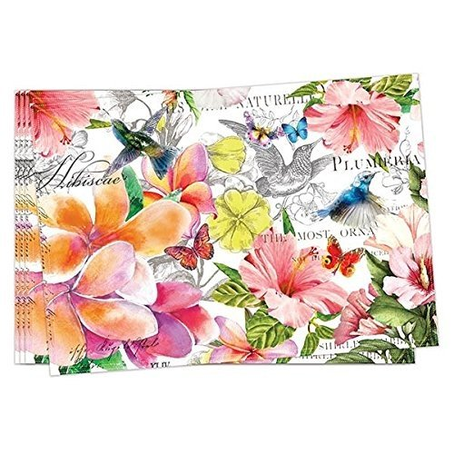 The Deborah Michel Michel Collection Turkish Cotton Placemats (Set of 4), Paradise