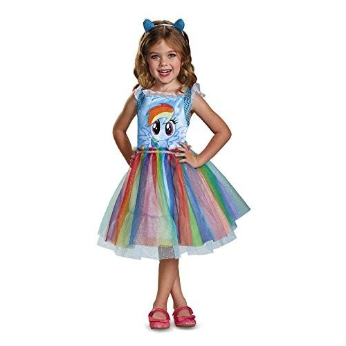 Rainbow Dash Movie Toddler Classic Costume, 青, Medium (3T-4T)