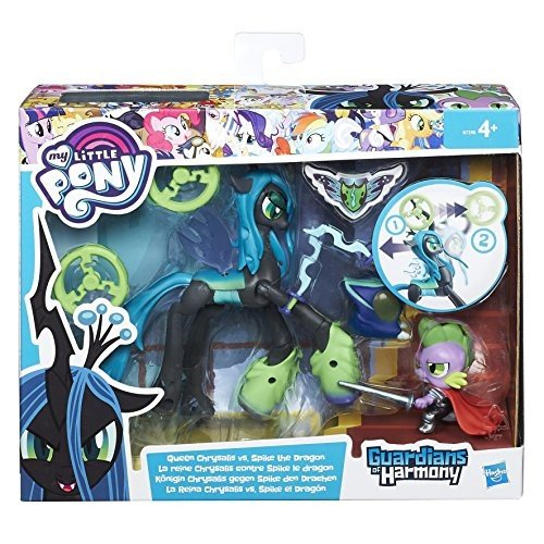 My Little Pony Hasbro Spike The Dragon Guardians of Harmony Queen Chrysalis B6009 English Version [Toy], Assorted Models