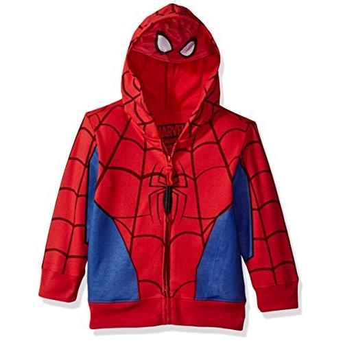 Marvel Big Boys' Spiderman Mask Costume Hoodie, 赤, M-10/12