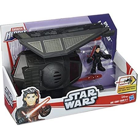 Galactic Heroes Star Wars The Last Jedi Kylo Ren and Tie Silencer Vehicle