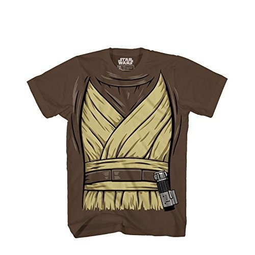 OBI -Wan Ben Kenobi Halloween Costume Luke Skywalker Jedi Yoda Adult Men's Graphic T-Shirt Tee Apparel (X-Large) 褐色