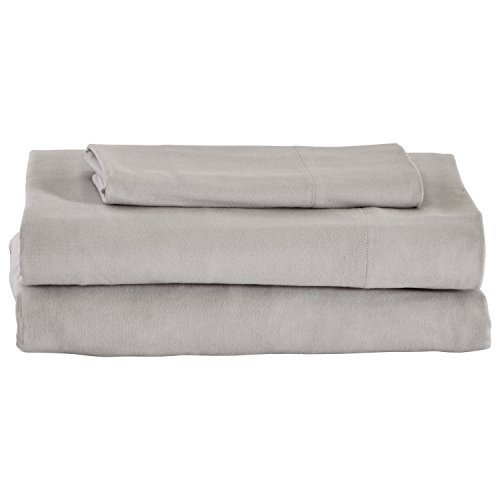 Stone & Beam Rustic Solid Solid 100% Cotton Flannel Bed Sheet Set, Twin XL, Cloud