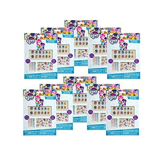 12 Pack, My Little Pony Nails Stickers & Art- Party Favors / Goody Bag