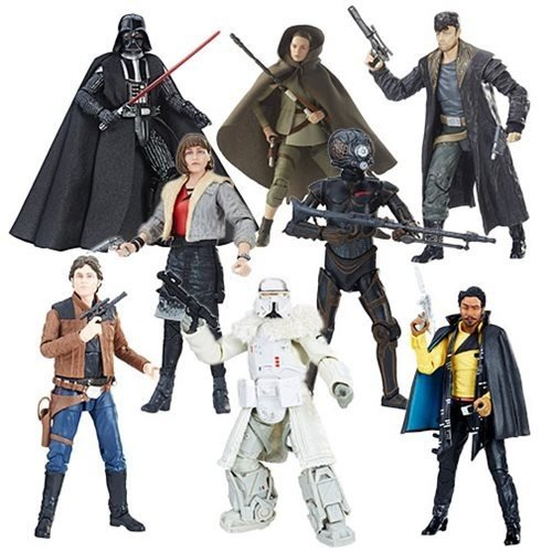 Star Wars The 黒 Series 6-Inch Action Figure Wave 17 Case Complete 8 pcs set DARTH VADER,REY ISLAND JOURNEY,4LOM,LANDO CALRISSIAN,RANGE TROOPER,QIR