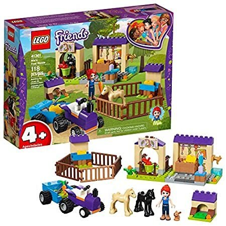 LEGO Friends 4+ Mia's Foal Stable 41361 Building Kit , New 2019 (118 Piece)
