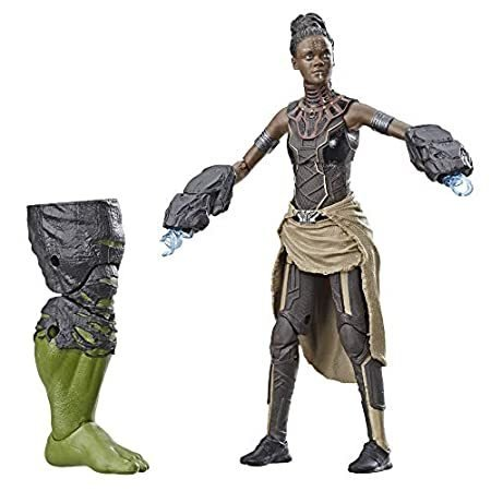 Marvel Legends Series 黒 Panther Shuri 6-inch Collectible Action Figure Toy for Ages 6 and Up with Accessories and Build-A-Figure Piece