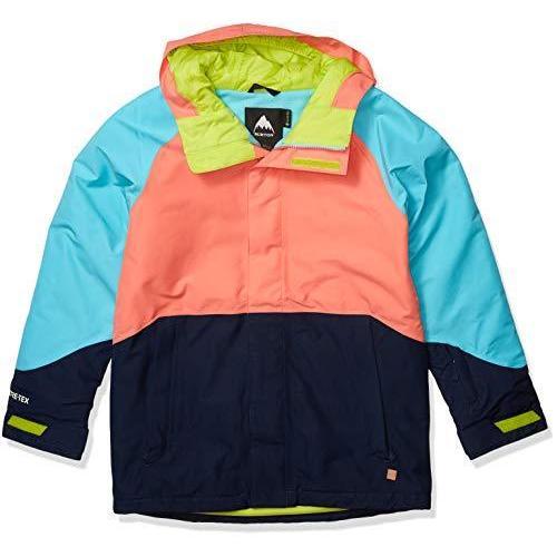 Burton Boys Gore-Tex Stark Jacket, Blue Cura〓ao/Dress Blue/Georgia Peach, Medium