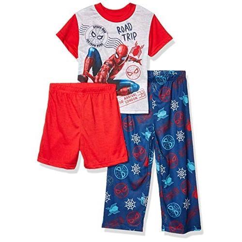 Marvel Marvel Marvel Boys' Little Spiderman 3-Piece Pajama Set, Far from Webs, 6 0f7