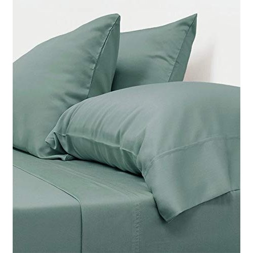 Cariloha Classic Bamboo Sheets 4 Piece Bed Sheet Set - Softest Bed Sheets and Pillowcases - 100% Viscose from Bamboo (King, Tahitian Breeze)
