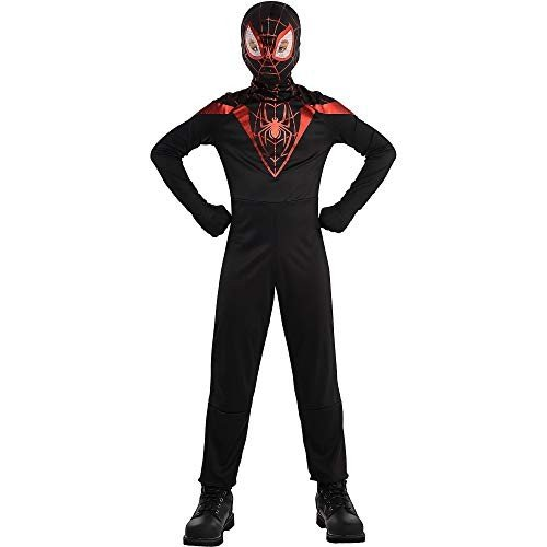 Suit Yourself Spider-Man Miles Morales Costume for Boys, Size Large, Includes a 黒 Jumpsuit and a Spider Mask