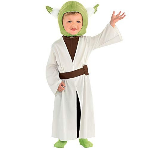 Party City Yoda Halloween Costume for Babies, Star Wars, 6-12 Months, Includes Accessories