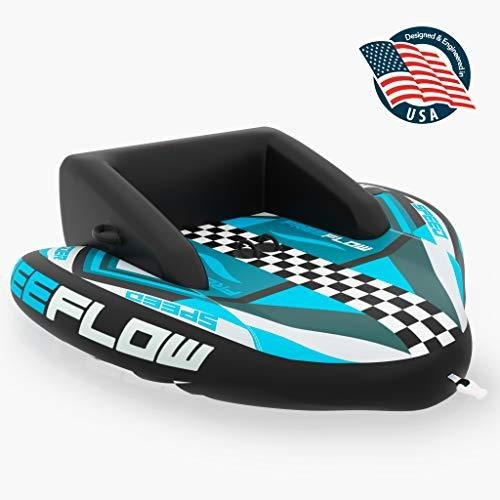 Heavy-Duty Inflatable Towable Booster Tube - Two Person Water Tube Boating Float Tow Raft, Watersports Inflatable Pull Boats/Tubes/Towables|kyokos|01