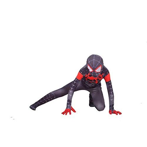 MEET The Spider-Verse Kids Bodysuit Spiderman Superhero Costumes Lycra Spandex Halloween Cosplay Costumes (100)