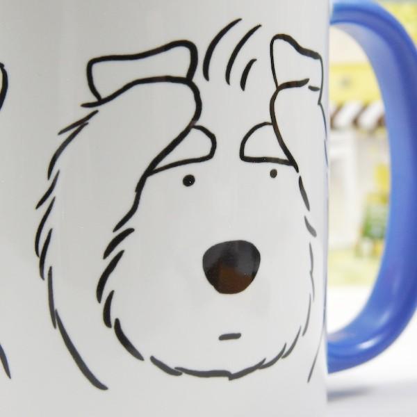 髭犬珈琲店〈オリジナルデザイン〉マグカップ〈三シュナ〉・シュナウザー・schnauzer・髭犬・喫茶店|kyoto-bunguya|04