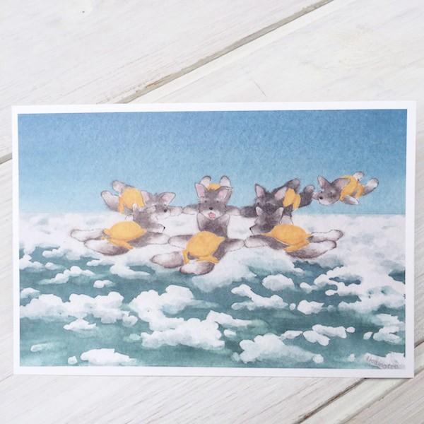 ポストカード〈オリジナルデザイン〉 ミニシュナ兄弟の大冒険〈ミニチュアシュナウザー〉 kyoto-bunguya 03