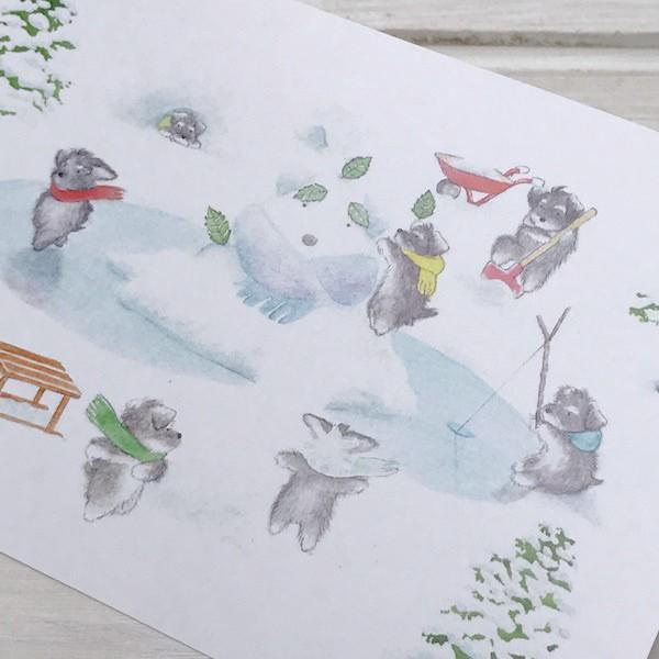 ポストカード〈オリジナルデザイン〉 ミニシュナ兄弟の大冒険〈ミニチュアシュナウザー〉 kyoto-bunguya 02