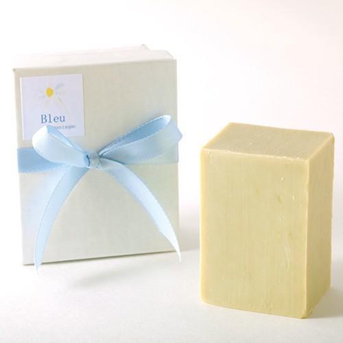 オリーブオイルで作った 洗顔石けん ブルウマニアック ブルーカモミール系の香り 90g |kyoto-savonya|05
