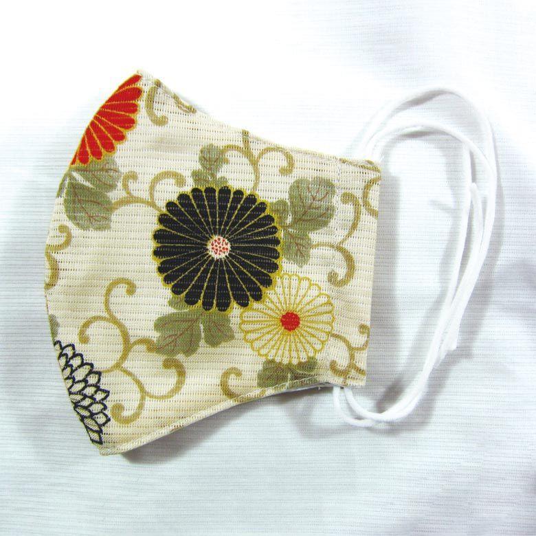 婦人用 和柄マスク 〔菊柄〕 マスク 抗菌 立体マスク 洗える 清潔 レディース 日本製 TioTio 和柄 菊 飛沫対策 ウイルス対策|kyoto-syoujyuan|04