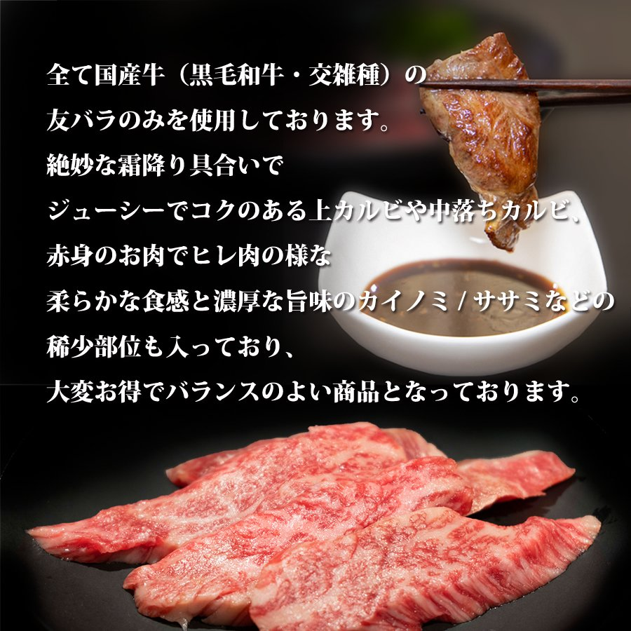 牛肉 焼き肉 バーベキュー 国産 肉 和牛 カルビ盛り 500g kyoto1129 02