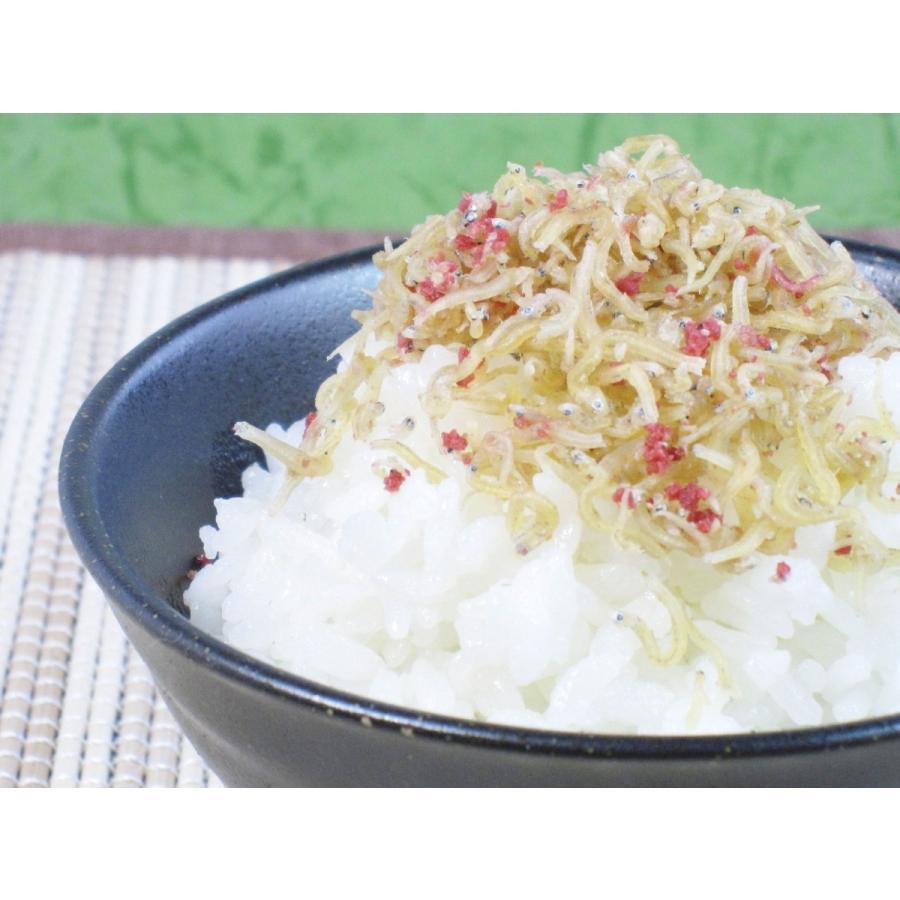 ご飯のお供お取り寄せ商品 カルシウム豊富なちりめんじゃこと紀州産梅を使用した 梅ちりめん 50g|kyotokatsura|02