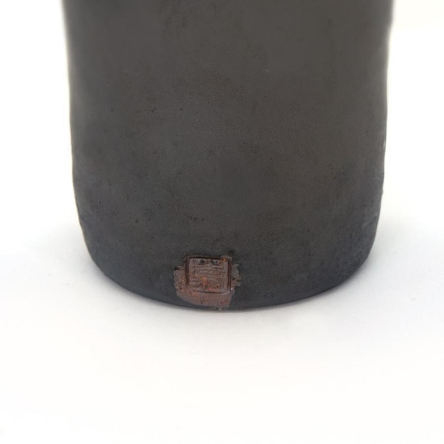 ホワイトデー 卒業祝い 多屋嘉郎 清水焼 京焼 フリーカップ ビアカップ 陶器 おしゃれ 黒釉金彩 手作り 和食器|kyotomarche|03