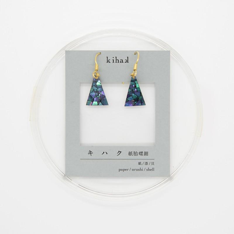 母の日 うるしのしごと Mutsumi oitate 京漆器 ピアス イヤリング 揺れる 漆 三角 黒 大小サイズあり|kyotomarche