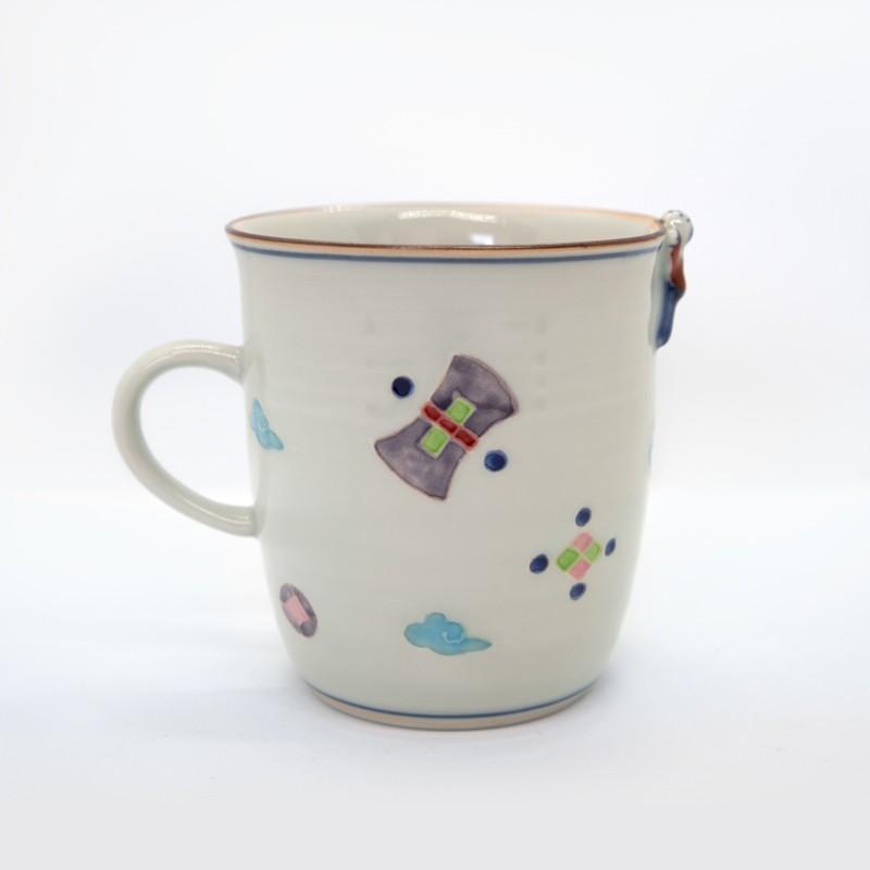 母の日 入学祝い 清水焼 京焼 マグカップ 和風 一珍風神マグカップ 陶器 和食器 kyotomarche 02