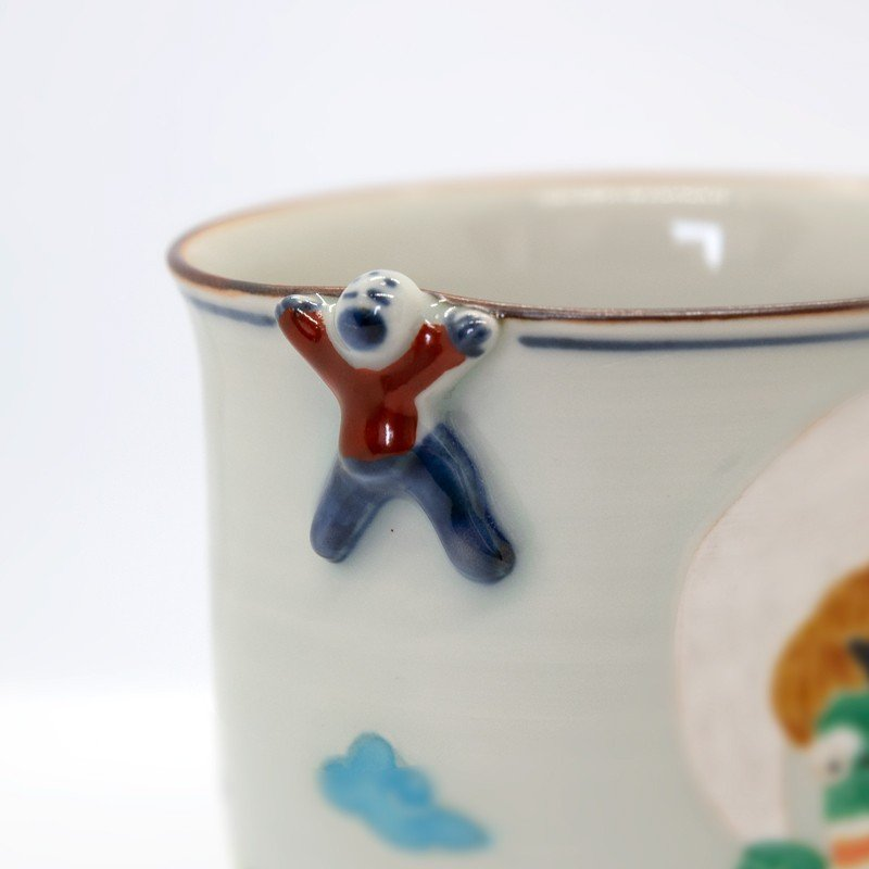 母の日 入学祝い 清水焼 京焼 マグカップ 和風 一珍風神マグカップ 陶器 和食器 kyotomarche 03