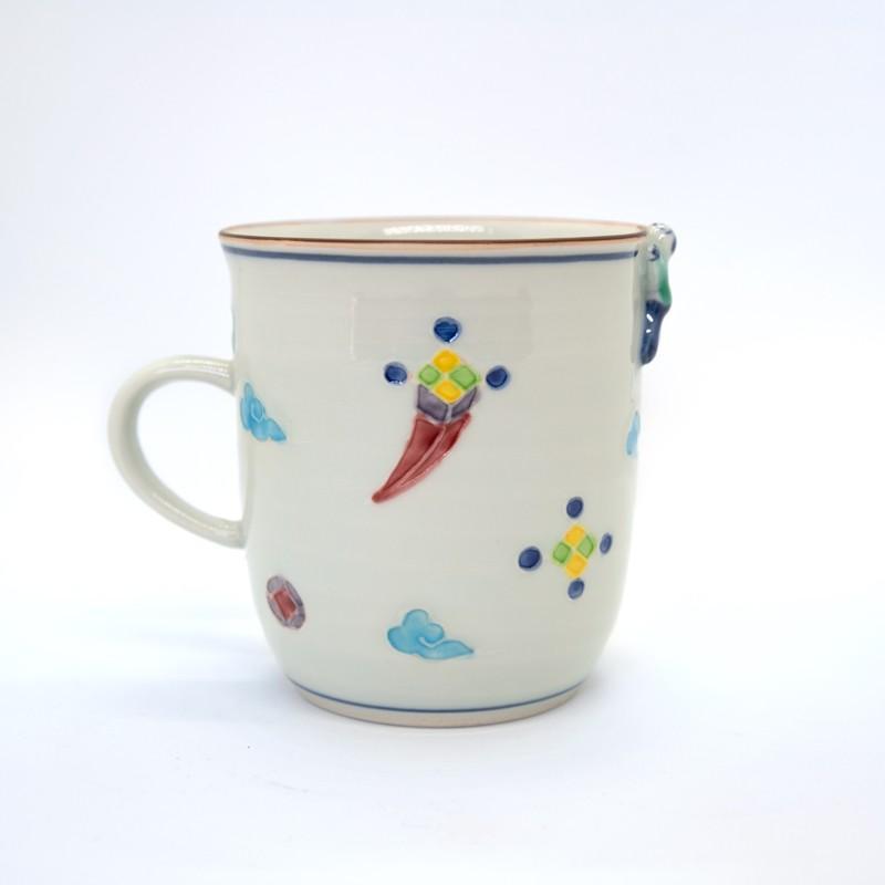 母の日 入学祝い 清水焼 京焼 マグカップ 和風 一珍雷神マグカップ 陶器 和食器|kyotomarche|02