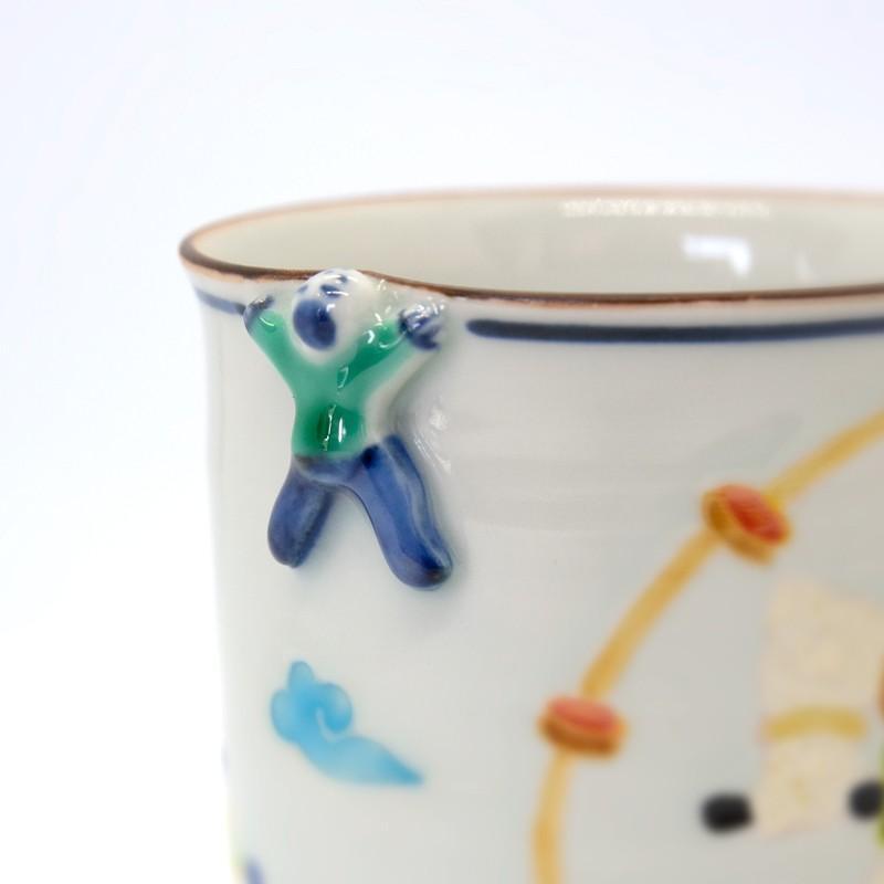 母の日 入学祝い 清水焼 京焼 マグカップ 和風 一珍雷神マグカップ 陶器 和食器|kyotomarche|03