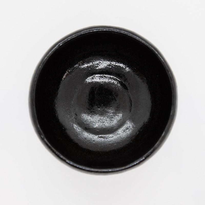 お中元 父の日 楽焼窯元 三代松楽 抹茶碗 京都 清水焼 茶碗  茶道 茶の湯 黒楽 陶器 京焼 kyotomarche 05