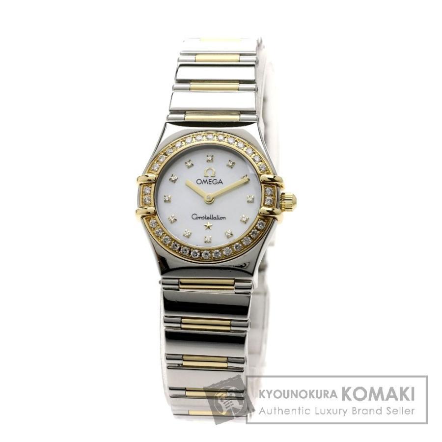 【通販激安】 オメガ Ref.1365-75 コンステレーション 腕時計 ステンレス SSxK18YG ダイヤモンド レディース, 伏見区 e4791a89