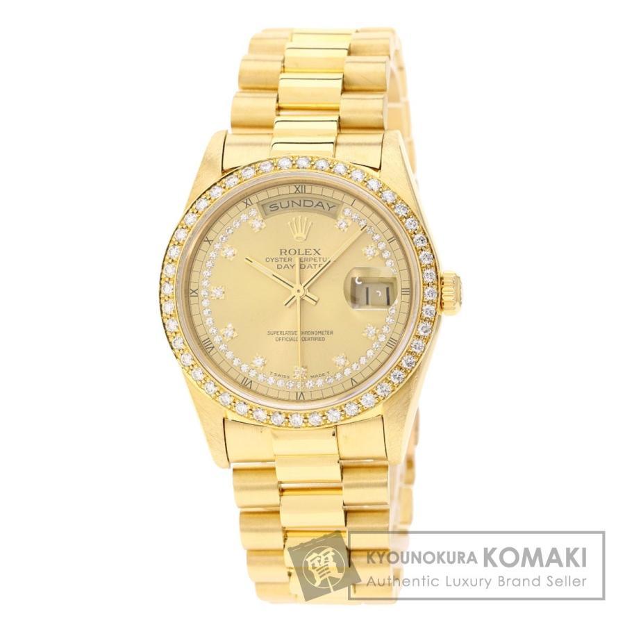 日本最大のブランド ROLEX ロレックス 18348 デイデイト サークルダイヤモンド 腕時計 K18イエローゴールド/K18YG メンズ, アドキッチン 1de0b2e4