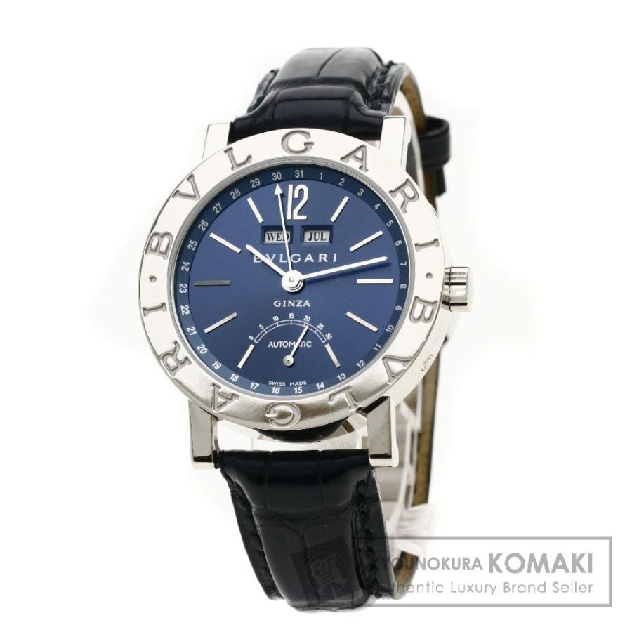 競売 BVLGARI ブルガリ 腕時計 BBW38GLAC BVLGARI ブルガリブルガリ メンズ 銀座60本限定 腕時計 K18ホワイトゴールド レザー メンズ, わくいきライフ:57b4fe60 --- airmodconsu.dominiotemporario.com