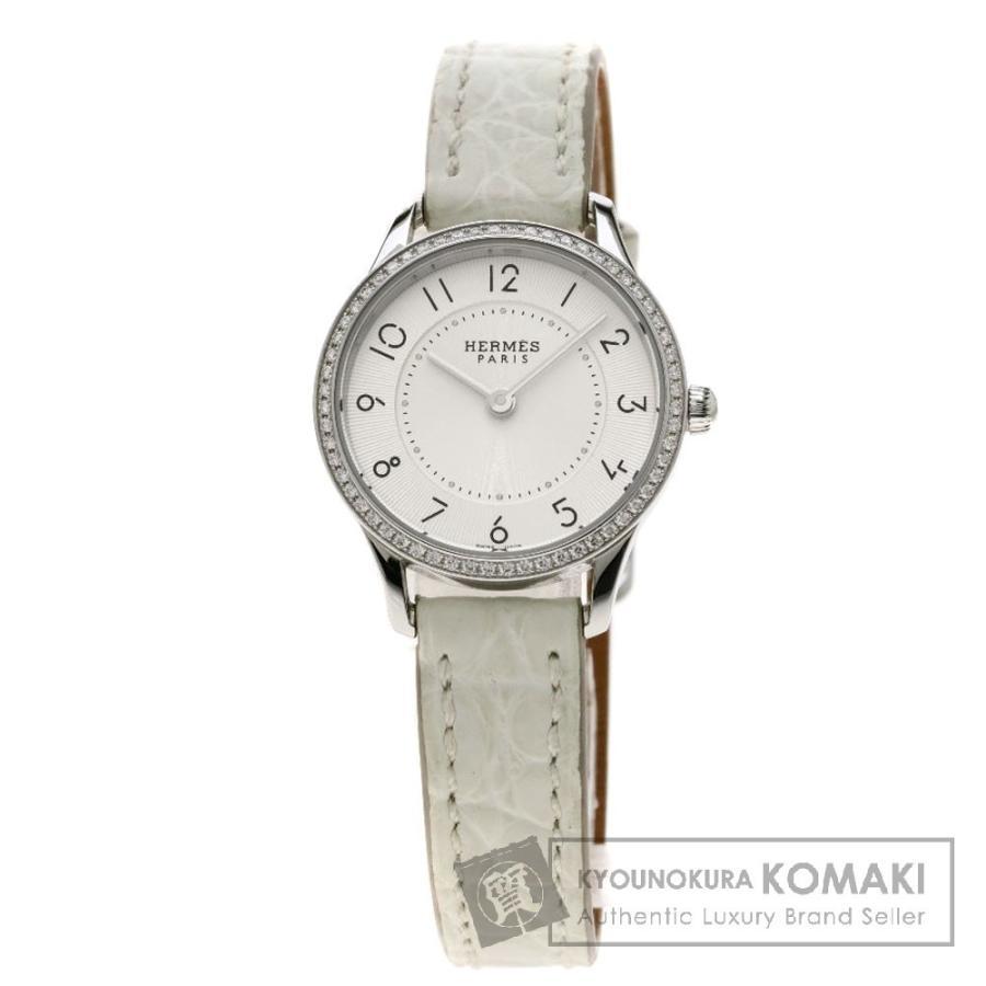 買い誠実 エルメス CA2.130 スリムドゥ スリムドゥ ダイヤモンド 腕時計 レディース レザー ステンレススチール レザー レディース, ハンドメイドだっこひもtacmamy:3a37d4a7 --- airmodconsu.dominiotemporario.com