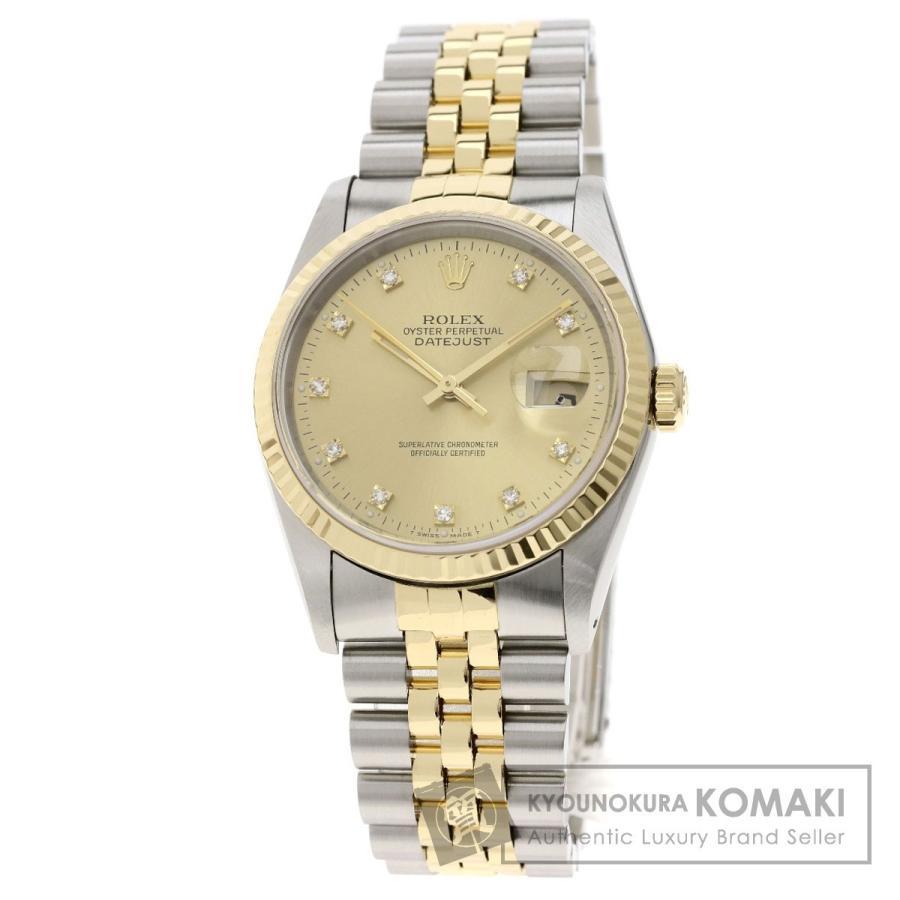 人気TOP ロレックス ROLEX 16233G デイトジャスト 10Pダイヤモンド 10Pダイヤモンド 腕時計 ステンレススチール SSxK18YG 腕時計 SSxK18YG メンズ, オオウチマチ:807d3f03 --- airmodconsu.dominiotemporario.com