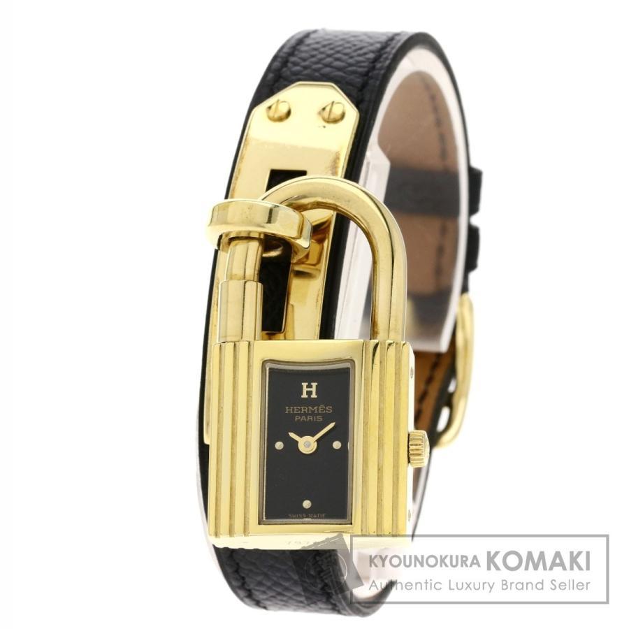 【メール便不可】 HERMES エルメス ケリーウォッチ 腕時計 GP/革 レディース, FRAGILE a4851a07