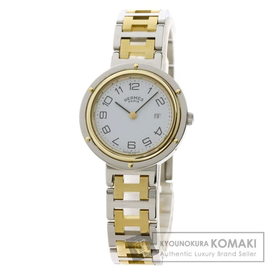 【人気商品】 HERMES エルメス クリッパー 腕時計 ステンレススチール/SSxGP ボーイズ, gaRon c58be5f3