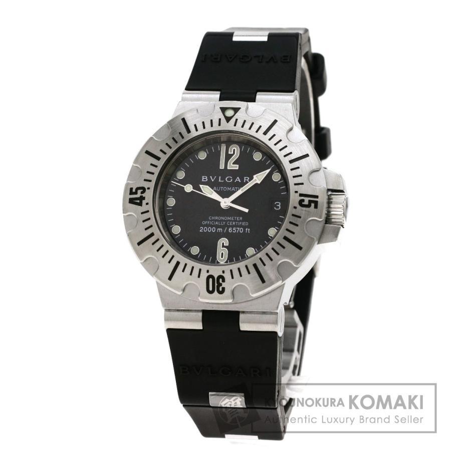 【SALE】 ブルガリ BVLGARI SD42SVD ディアゴノ ディアゴノ プロフェッショナル スクーバ 腕時計 腕時計 ステンレススチール スクーバ ラバー メンズ, スチールプラザ:10539f42 --- airmodconsu.dominiotemporario.com