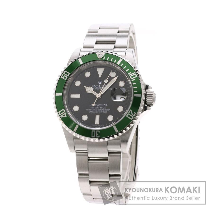 最新デザインの ROLEX ロレックス 16610LV サブマリーナ デイト グリーンベゼル 腕時計 ステンレススチール/SS メンズ, SOREGET 8c4fb413