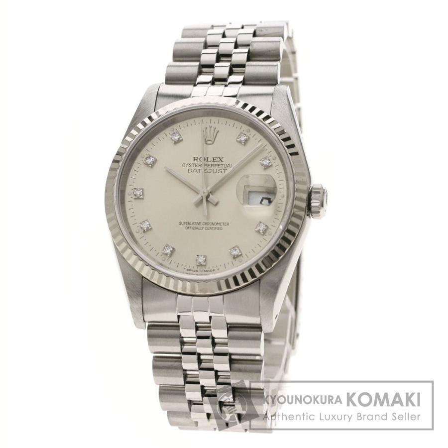 【人気ショップが最安値挑戦!】 ROLEX ロレックス 16234G デイトジャスト 16234G 10Pダイヤモンド 腕時計 ステンレススチール メンズ/SS/K18WG 10Pダイヤモンド メンズ, いぐさ工房うのすけ:6e7ea7e9 --- airmodconsu.dominiotemporario.com