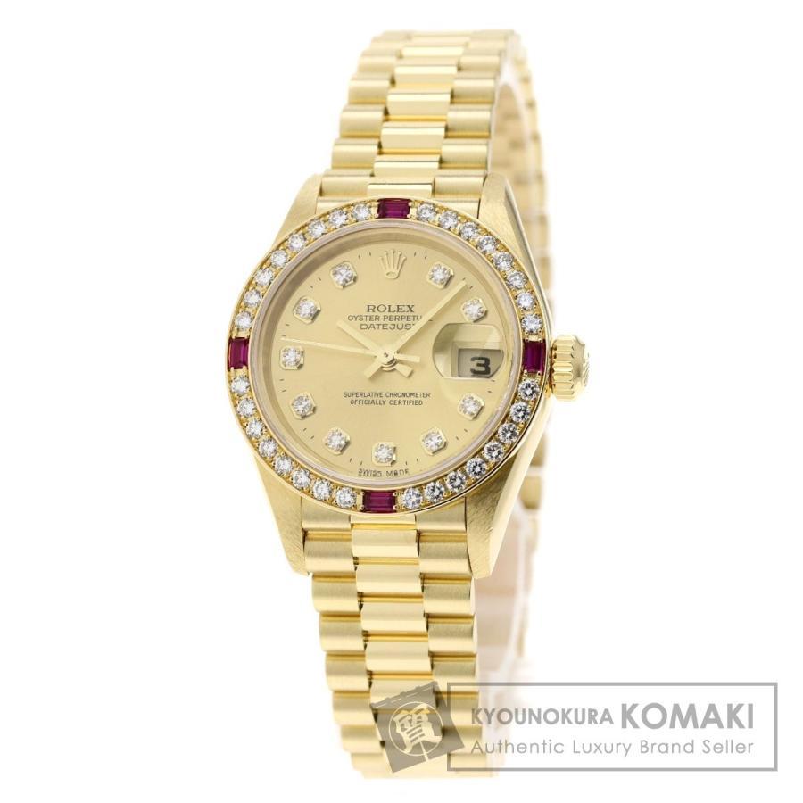 高質で安価 ROLEX 腕時計 ロレックス 79068G 79068G デイトジャスト 10Pダイヤモンド 腕時計 K18イエローゴールド ROLEX/K18YG レディース, MIRAI-UP:12dfdc3c --- persianlanguageservices.com